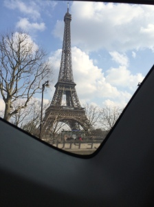 As we arrived on the Champ de Mars for the Eiffel Tower!