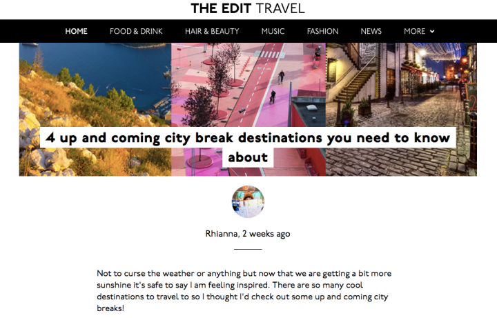 Check out my blog post on The Edit