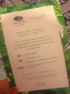 Origins x Sweaty Betty Event